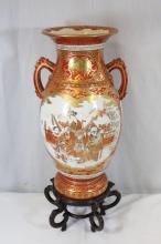 Japanese 19th c. kutani vase, signed by artist