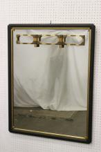 Japanese wall mirror with lacquer frame