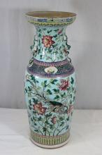 Antique Chinese large famille rose porcelain vase