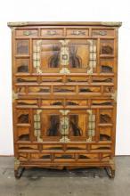 Antique Korean double storage chest