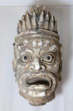 Chinese wood carved Buddha's head