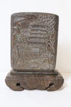 Wood carved pen holder