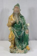 Chinese sancai figure of Guandi