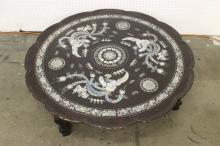 19th/20th c. Korean lacquer table w/ MOP inlaid