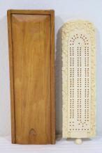 Chinese ivory carved game board