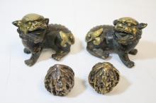 4 bronze pieces