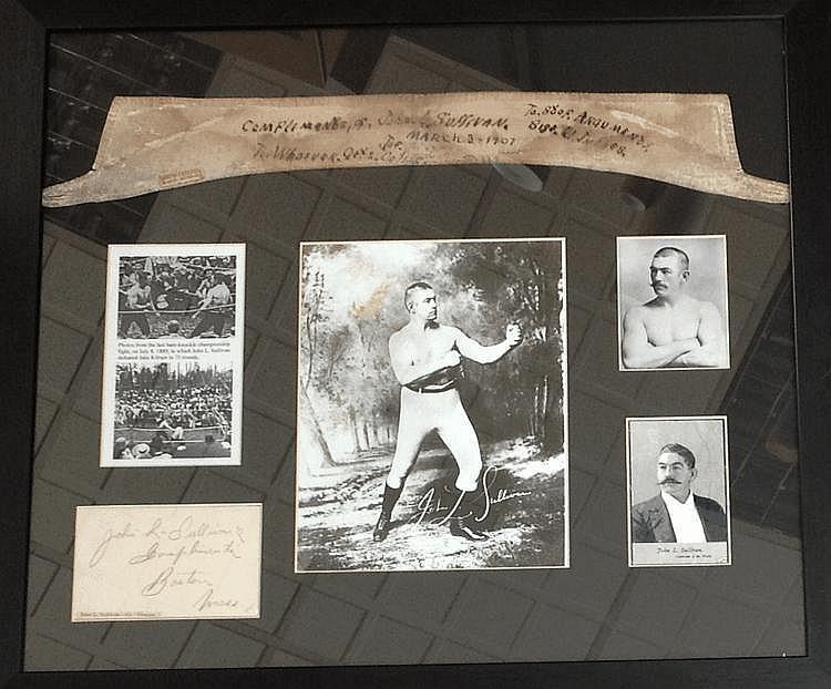 SULLIVAN JOHN L.: (1858-1918) American Boxer,
