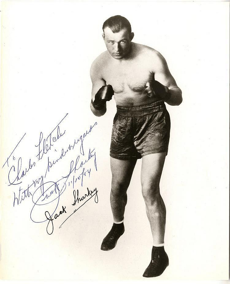 SHARKEY JACK: (1902-1994) American Boxer, World