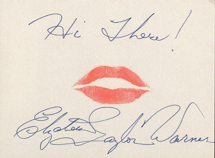 TAYLOR ELIZABETH: (1932- 2011) English Actress,