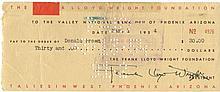 WRIGHT FRANK LLOYD: (1867-1959) American Architect