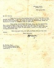 WARNER PELHAM F.: (1873-1963) English Cricketer.