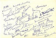 CRICKET: An 8vo sheet of plain notepaper
