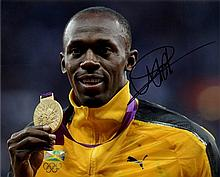 BOLT USAIN: (1986- ) Jamaican Sprinter, Olympic