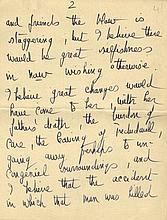 DU MAURIER DAPHNE: (1907-1989) British Author. Partial A.L.S