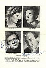 BURTON RICHARD: (1925-1984) Welsh Actor. A vintage printed