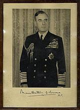 MOUNTBATTEN LOUIS: (1900-1979) British Admiral of World War