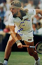 TENNIS: Selection of signed pieces, cards,