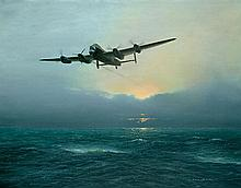 WORLD WAR II: Signed colour 27 x 20 print entitled