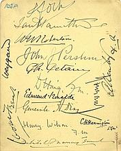WORLD WAR I: An 8vo page removed from an autograph