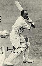 CRICKET: Selection of signed pieces, cards, album