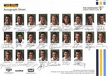 CRICKET: Selection of multiple signed teamsheets