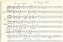 BLISS ARTHUR: (1891-1975) English Composer & Conductor. An a
