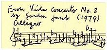 JACOB GORDON: (1895-1984) English Composer. A.M.Q.S., Gordon