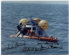 APOLLO XII: Signed colour 10 x 8 by the three crew members o