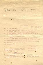 WORLD WAR II: A rare World War II document issued by the Bri