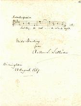 SULLIVAN ARTHUR: (1842-1900) English Composer. A fine A.M.Q.