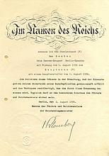 BLOMBERG WERNER VON: (1878-1946) German Field Marshal Genera