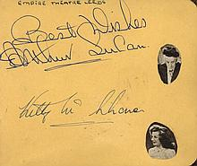 AUTOGRAPH ALBUMS: Two autograph albums containing over 100 s