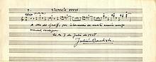 BAUTISTA JULIAN: (1901-1961) Spanish Composer. A.M.Q.S., Jul