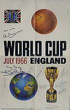 ENGLAND FOOTBALL: A multiple signed colour 12 x 19.5 reprodu