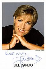 BRITISH TELEVISION: Selection of signed postcard photographs