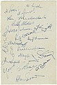 BURNLEY F.C.: A 12mo card individually signed by