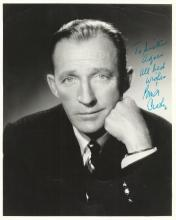 CROSBY BING: (1903-1977) American Singer & Actor, Academy Award winner. Vintage signed and inscribed