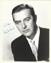 MILLAND RAY: (1907-1986) Welsh Actor, Academy Award winner. Signed and inscribed 8 x 10 photograph,