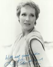 ANDREWS JULIE: (1935-) English Actress, Academy Award winner. Signed 8 x 10 photograph of Andre