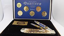 Case XX 2004 Trapper With 24K Gold Plated Quarters