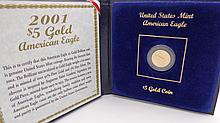 2001 $5 gold American Eagle gold coin
