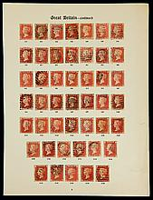 Great Britain, 1864 1d rose red complete plate numbers