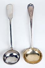 Two English Sterling Silver Ladles