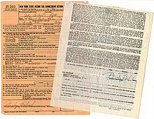 Judy Garland and Busby Berkeley - Two Separately Signed Documents
