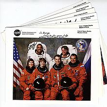 1989-94 Shuttle mission crew signed NASA color lithos
