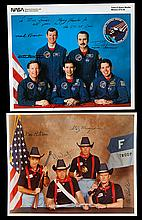1983-94 Shuttle astronaut signed NASA color lithos