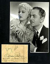 Jean Harlow and William Powell Autographs, Dated 1936, Yosemite National Park