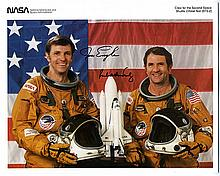 1981 STS-2 crew signed NASA color litho