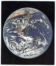 Astronaut signed Earth color litho