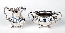 Reed & Barton Sterling Silver Creamer & Sugar